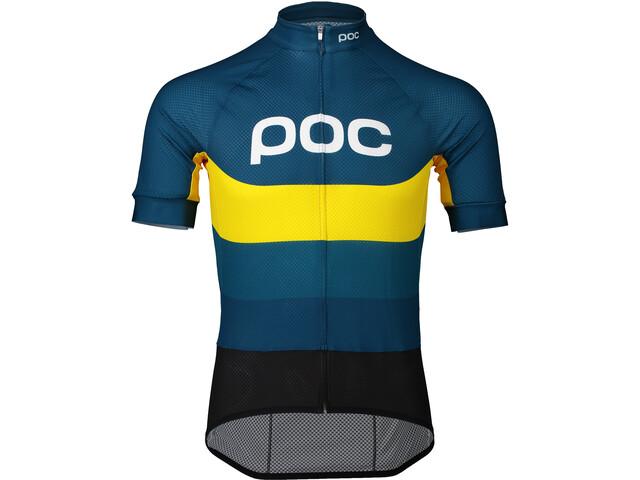 POC Essential Road Koszulka rowerowa z logo Mężczyźni, sulphite multi yellow